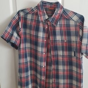 Merrell Short Sleeve Plaid Shirt